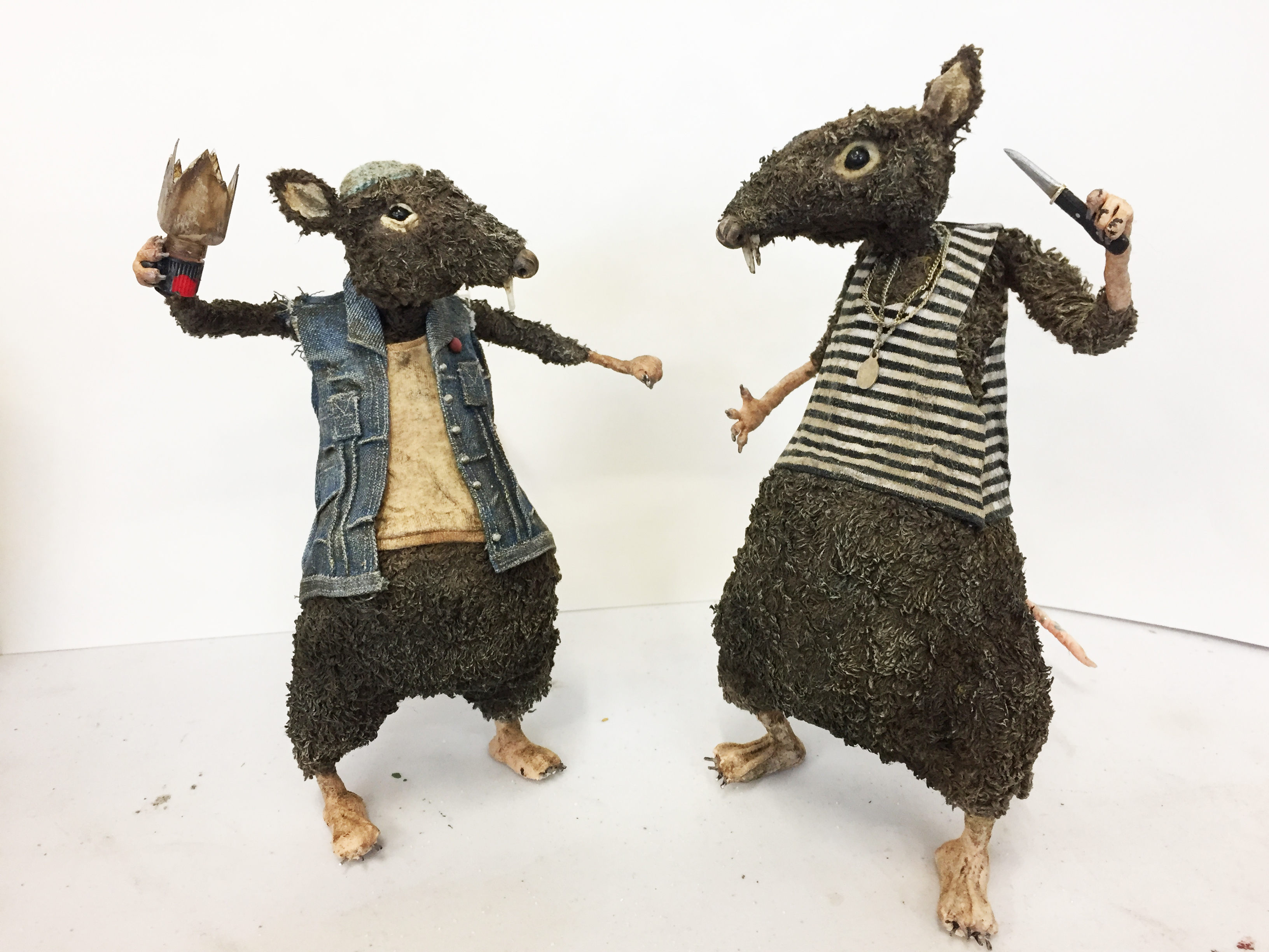 Stop motion puppets for Jacknife Films. Costume- Elaine Andrews