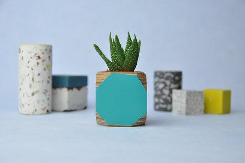 MINI GEO VESSEL - Turquoise