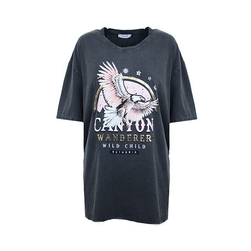 Oversized t-shirt Canyon  antraciet