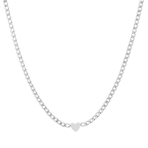 Ketting * Heartchain * silver