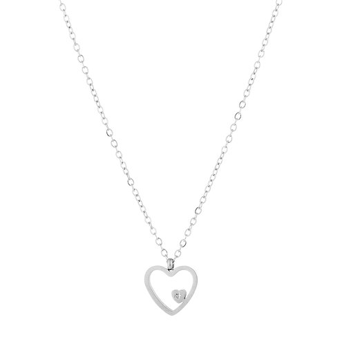 Ketting * Heartbeat * silver