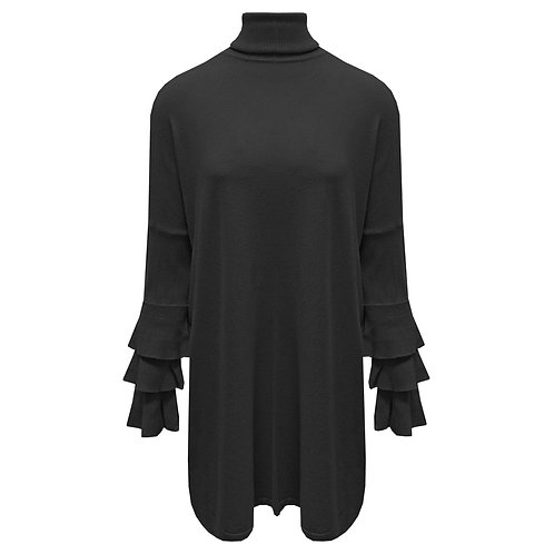 Lange trui  met ruffle mouwen