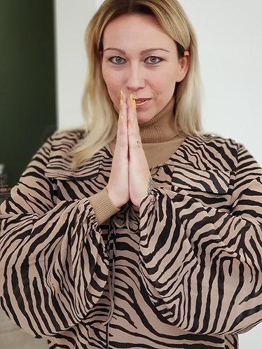 Blouse zebra camel