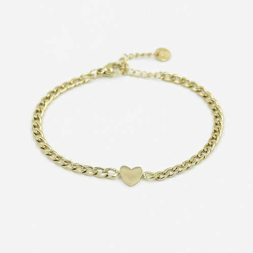 Armband * Heartchain * gold