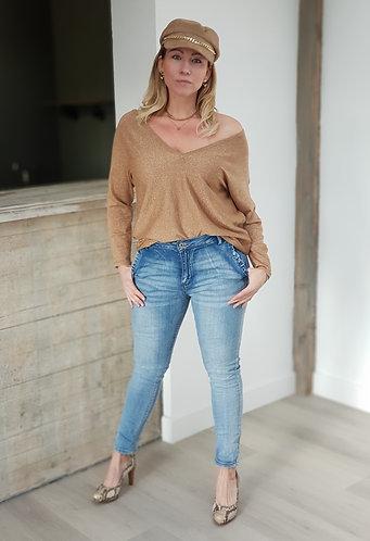 Jeans met rufflezakjes