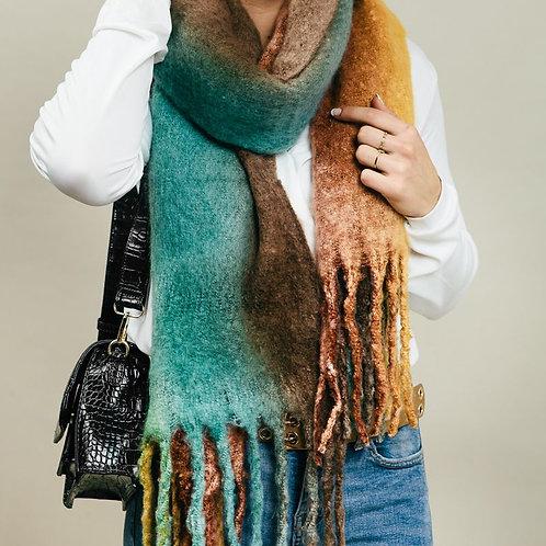 Sjaal multicolor blue