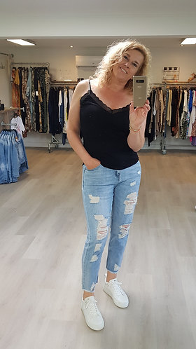 MOM jeans stretch