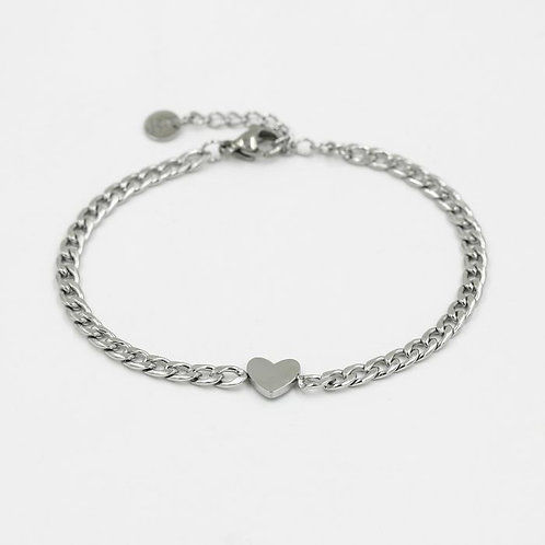 Armband * Heartchain * silver