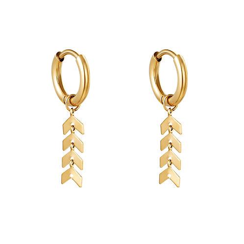Oorbellen * Fishbone* gold