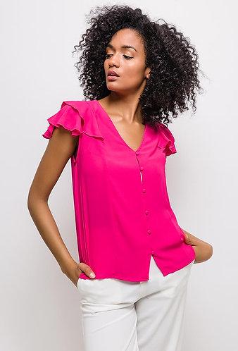 Chiffon blouse fuchsia
