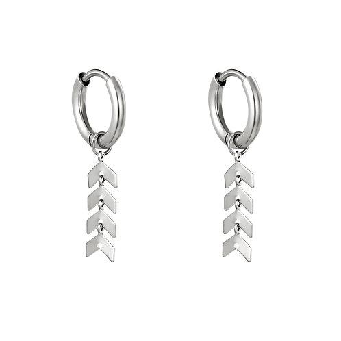 Oorbellen * Fishbone* silver