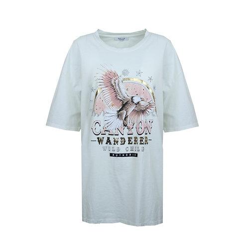 Oversized t-shirt canyon white