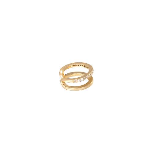 Golden earcuff (per 1 stuk)