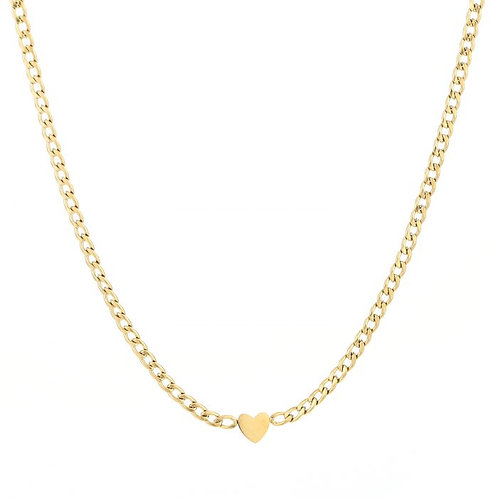 Ketting * Heartchain * gold
