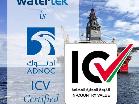 Advanced Watertek: Proud to be certified by ADNOC's In Country Value (ICV) program