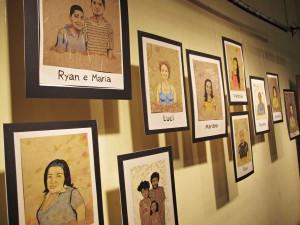 """Retratos """"Meu Chão"""" expostos na Mostra de Teatro Monte Azul"""