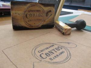 Lançamento Costurando contos narrados - teste carimbos