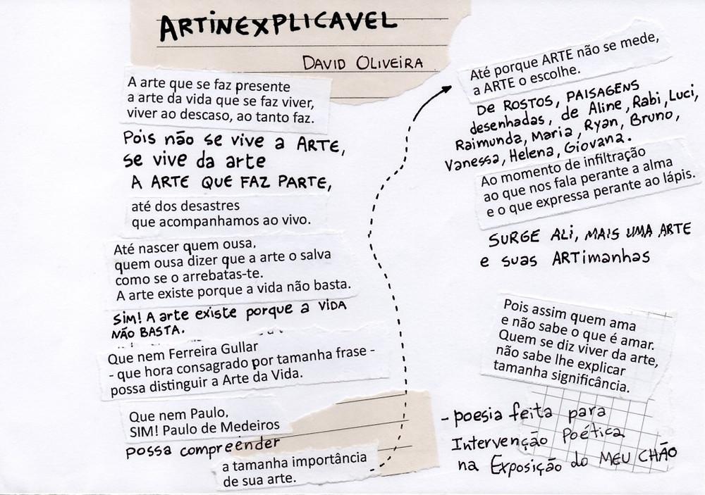 poema artinexplicavel - david oliveira - na zine meu chão Paulo de Medeiros
