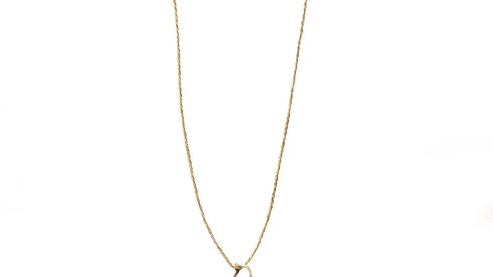 Collier mer - 3 billes de corail sur anneau or