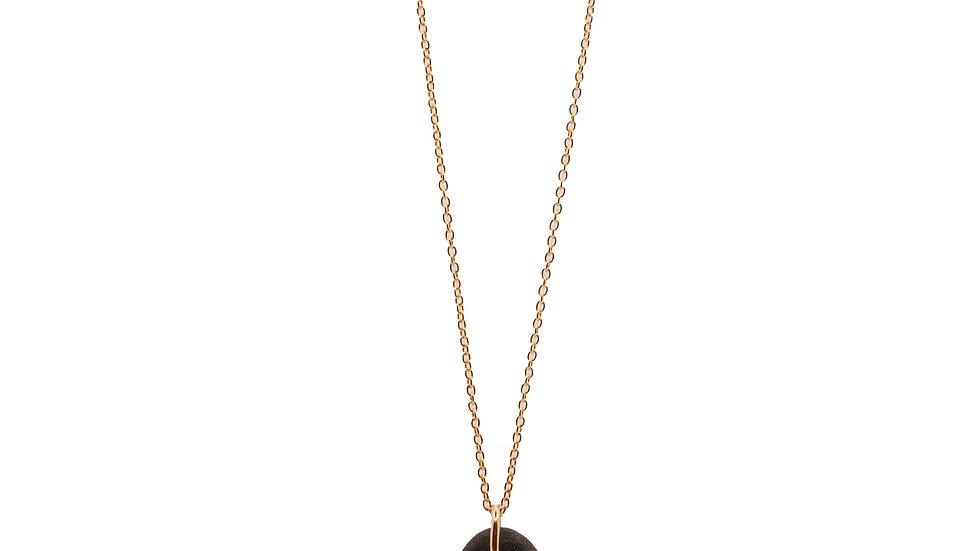 Collier galet - Galet avec diamant