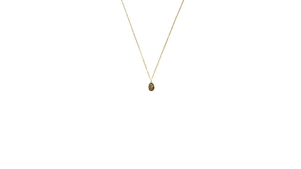 Collier sable & diamants – Petit grain de sable