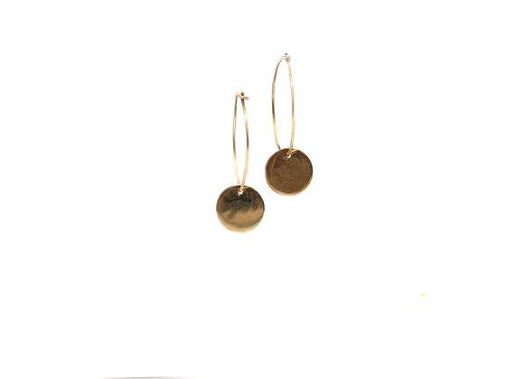 Boucles d'oreilles lumière – pampille en or