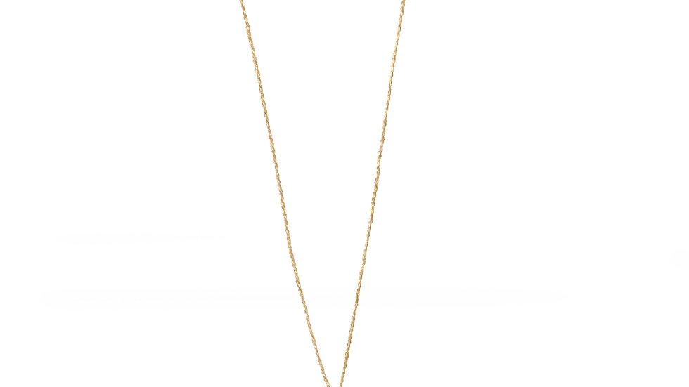 Collier sable & diamants - Tourmaline bleue, diamants et grain de sable
