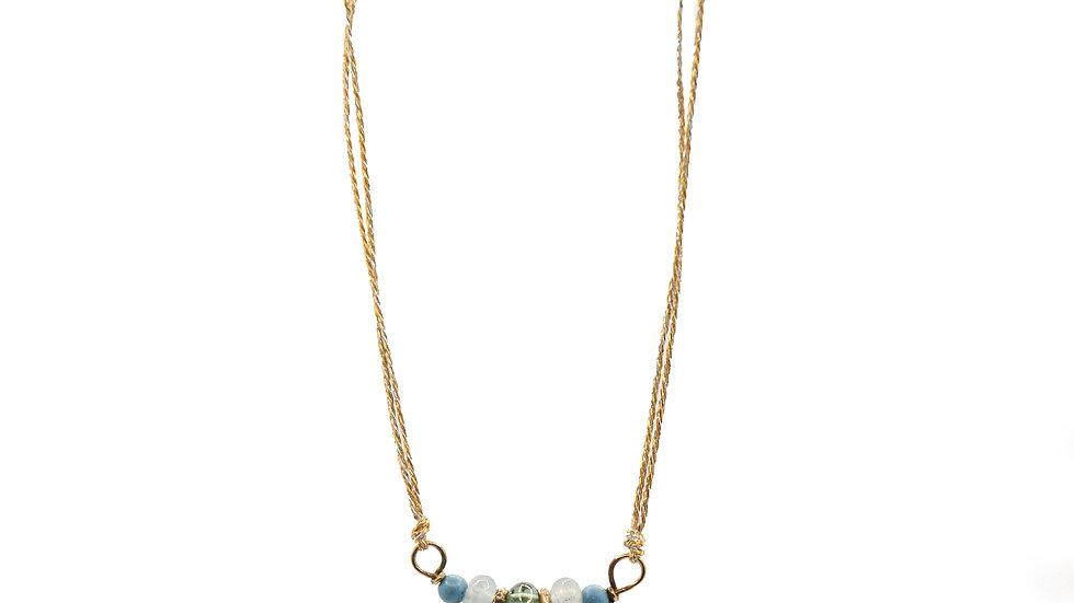Collier mer - Tourmaline, chrysoprase, turquoise