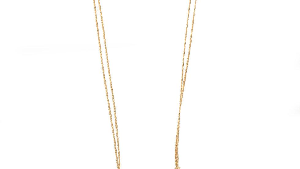 Collier sable & diamants - Saphir jaune et diamants