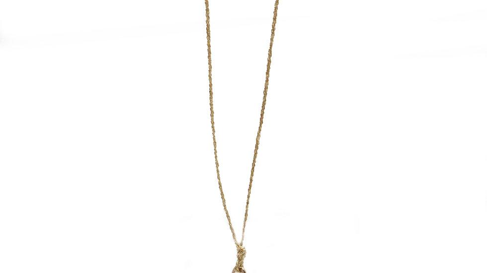 Collier sable & diamants - Saphir bleu, diamants et grain de sable