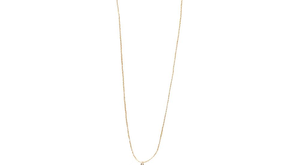 Collier sable & diamants - Aigue-marine, grain de sable et diamants