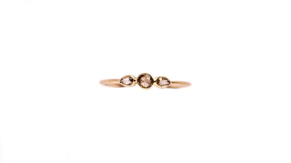 Bague lumière – Diamants taille rose