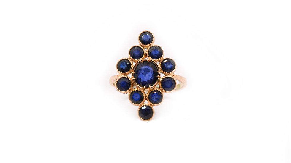 Bague héritage - Saphir et or 18 carat