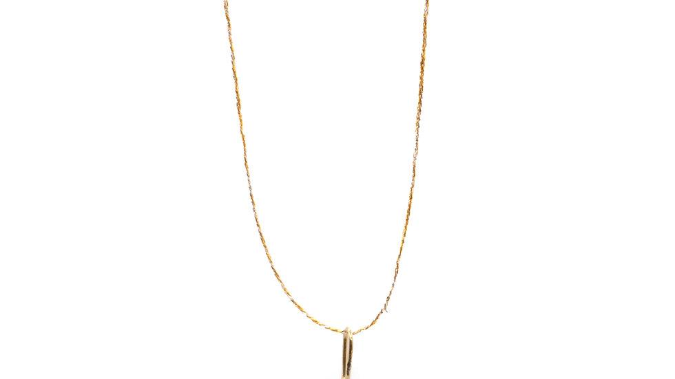 Collier sable & diamants - Saphir rose, diamants et grain de sable