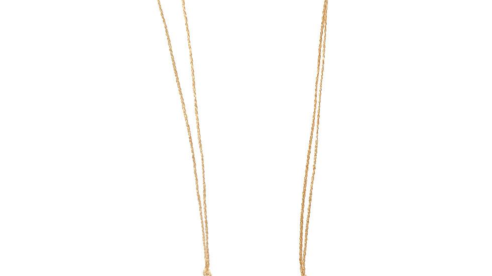 Collier sable & diamants - Saphir rose pâle, diamants et grain de sable