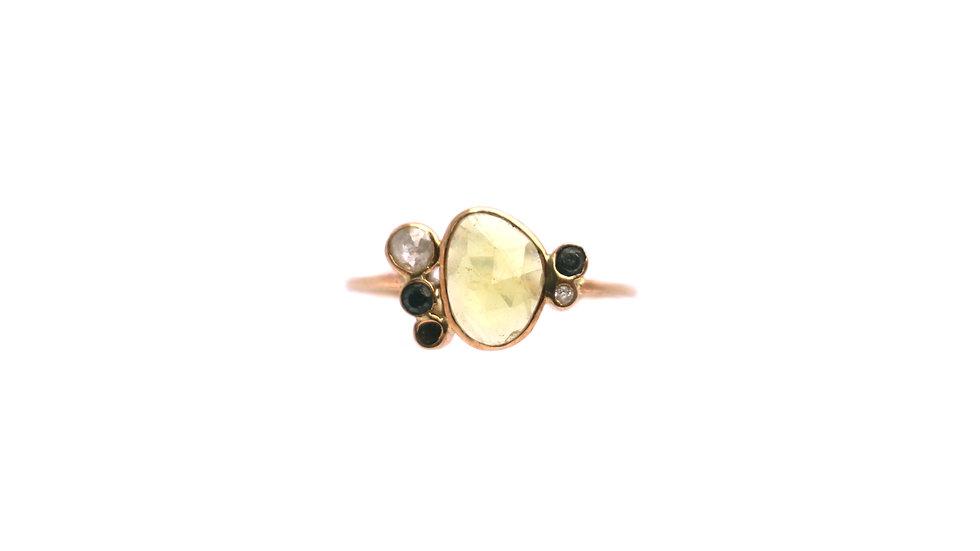 Bague sable & diamants – Tourmaline