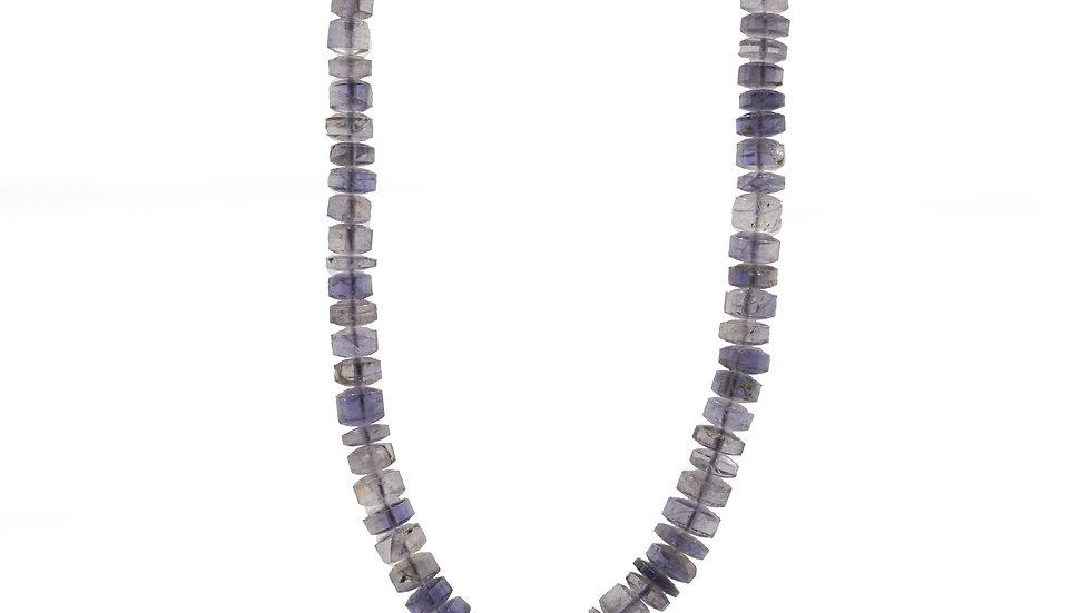 Collier mer - Collier en iolite bleu gris