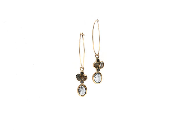 Boucles d'oreilles sable & diamants – Saphir
