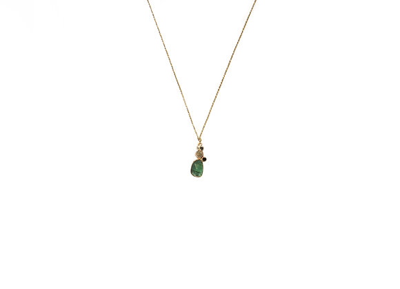Collier sable & diamants – Tourmaline