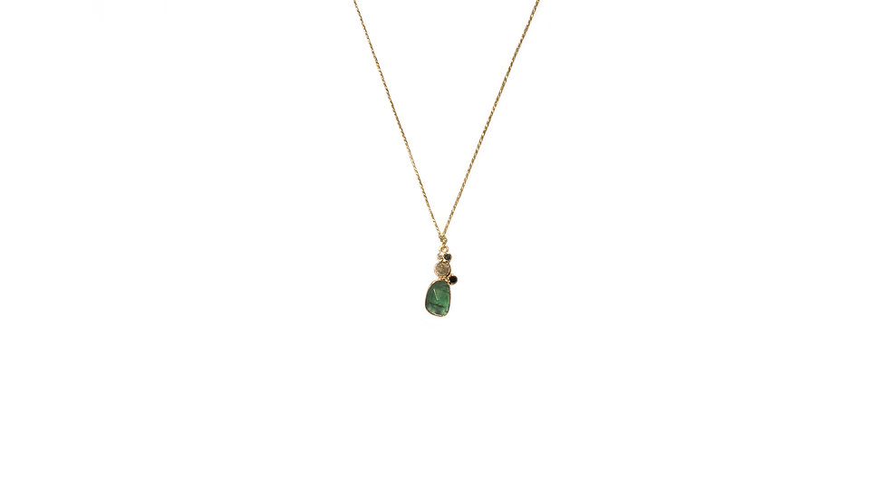 Collier sable & diamants – Tourmaline