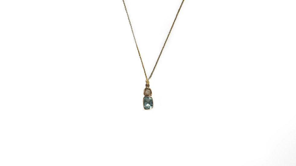 Collier sable & diamants – Apatite