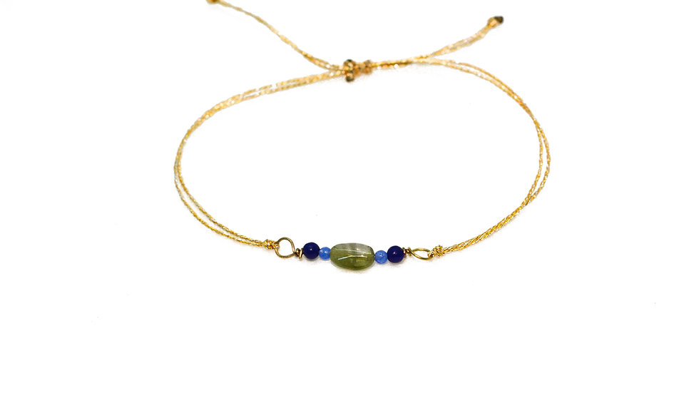 Bracelet mer - Tourmaline, turquoise, lapis lazuli