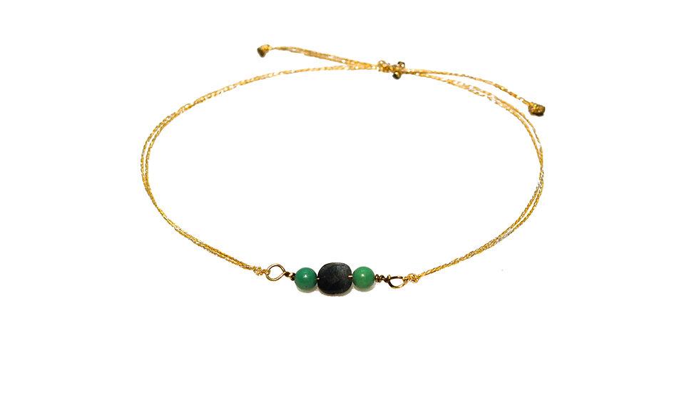 Bracelet mer - Agathe et billes de turquoise
