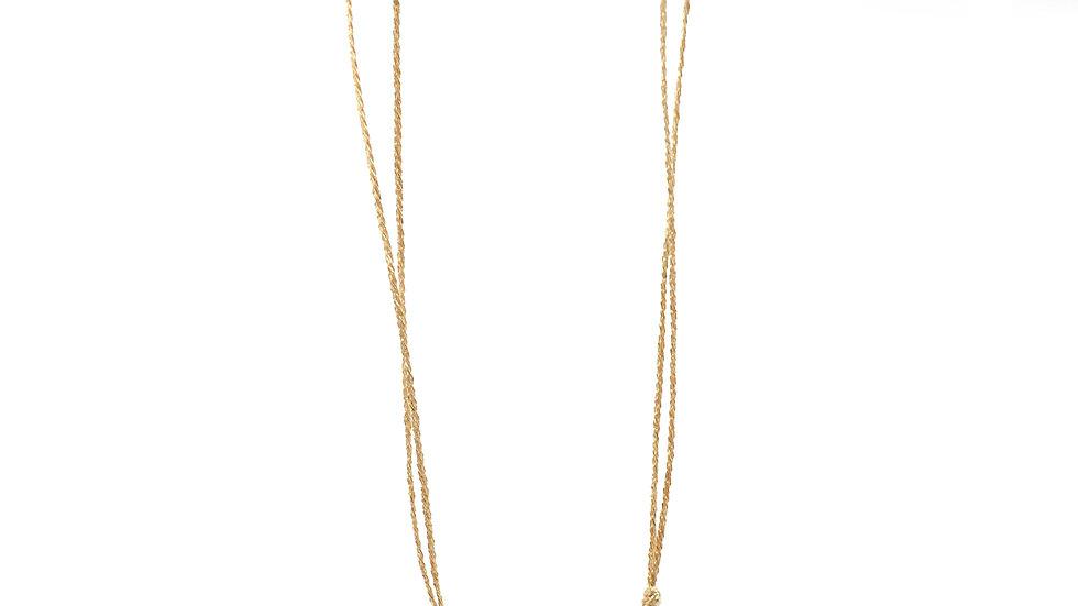 Collier sable & diamants - Saphir, tourmaline, diamants et grain de sable