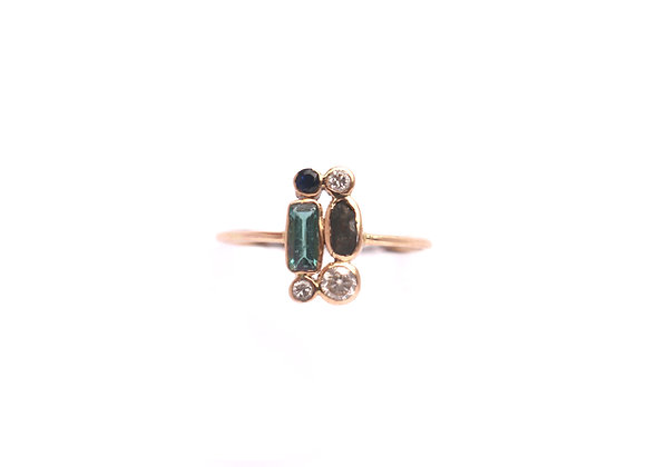 Bague sable & diamants – Tourmaline