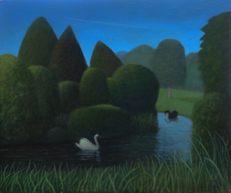 Echo and Narcissus; oil; 20x24inches Sold