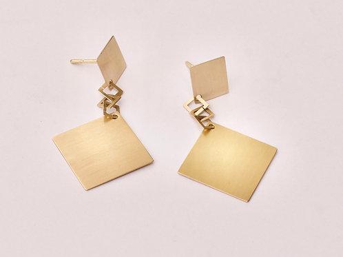 Golden earrings 18K
