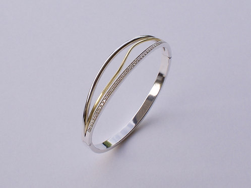 Armband zilver goud diamant