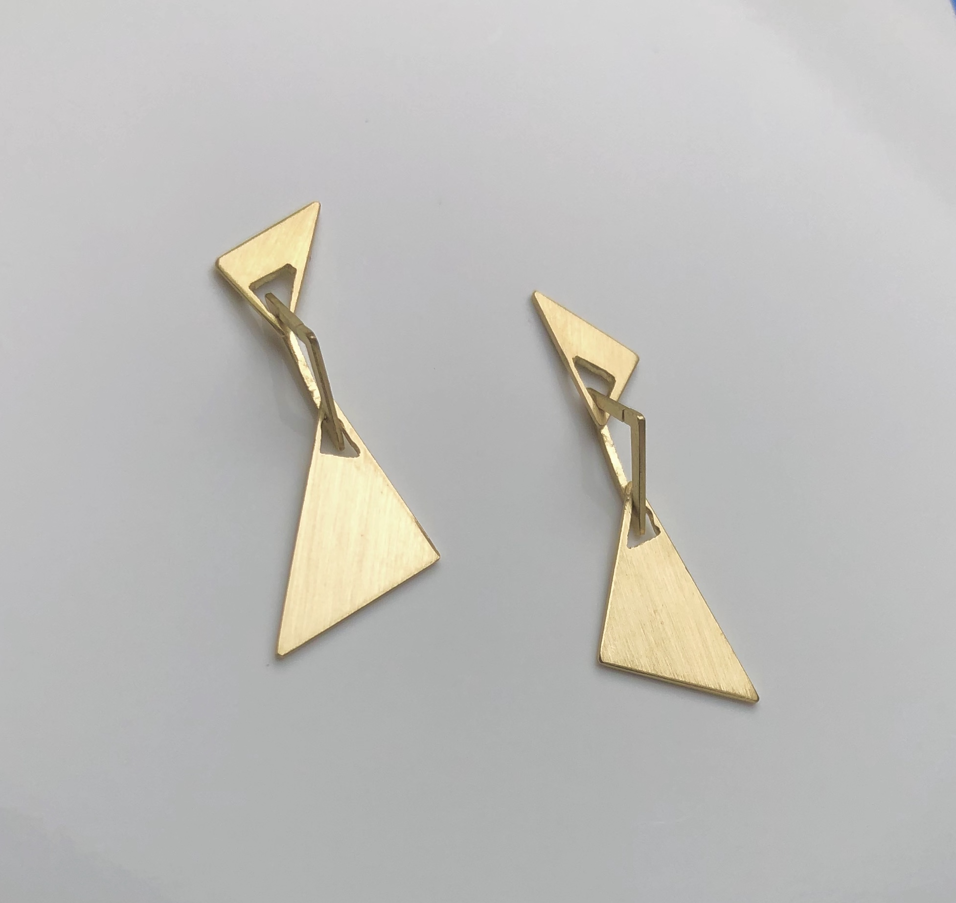 golden earrings 18K : 600 €