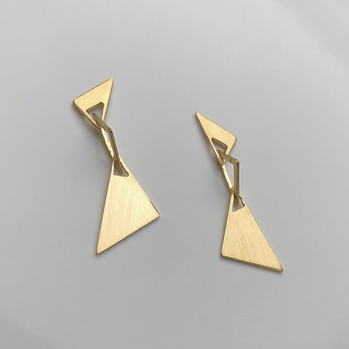 Golden earrings 18K